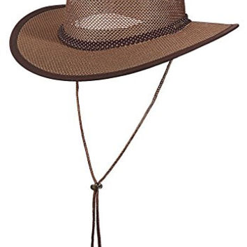 Stetson Outdoor Men's Mesh Covered Safari Hat M, Walnut