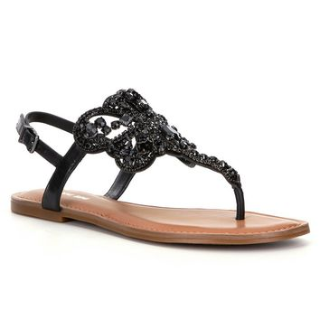 Gianni Bini Adorra Jeweled Sandals | Dillards
