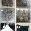 Plush Faux Fur Pillow / Sofa Pillow / Throw Pillow stuffed many Colors and Sizes