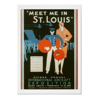 Meet Me in St Louis Vintage Poster from Zazzle.com