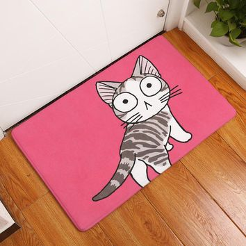 Autumn Fall welcome door mat doormat Homing in Front of Entrance s Animal Painting Cute Cartoon Playing Kitten Carpets Anti Slip Bathroom Floor Rugs Decor AT_76_7