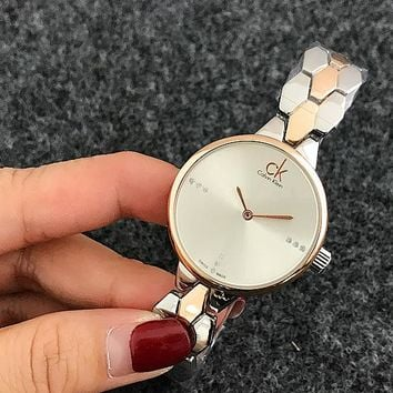 Calvin klein CK fashion simple small exquisite wristwatch watch I-Fushida-8899 Silver Rose Gold