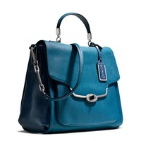 Coach :: Madison Sadie Flap Satchel In Spectator Saffiano Leather