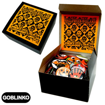 HALLOWEEN ISLAND - BLITZKRIEG BUTTONS - BUTTON BOX!!!