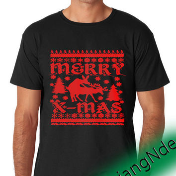 Ugly Christmas T-shirt High Quality Design in Men's and Women's
