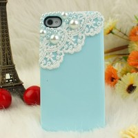 Nova Case 3D Bling Crystal iPhone Case for AT&T Verizon Sprint iPhone 4/4S Pearls and Lace - Baby B