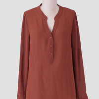 Sweeter Days Blouse In Brown