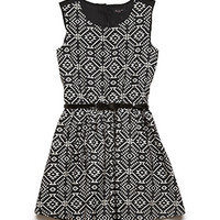 Southwestern Print Skater Dress (Kids)