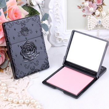 Rose Vintage mini pocket makeup mirror cosmetic compact Single sided mirrors Makeup Cleaning Oil Absorbing Face Paper