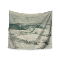 "Cristina Mitchell ""Crashing Waves"" Teal Ocean Wall Tapestry"