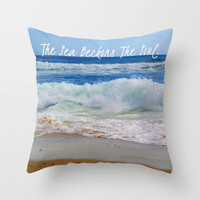 The Sea Beckons The Soul Throw Pillow by Josrick | Society6