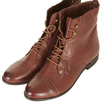 MALTA Leather Brogue Boots - Boots  - Shoes