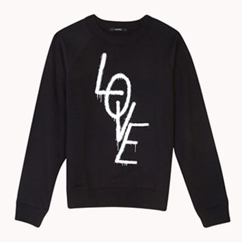 Artsy Spray-Painted Love Sweatshirt