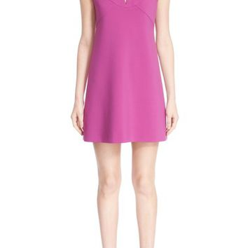 Versace Collection Bar Embellished Keyhole Woven Dress | Nordstrom