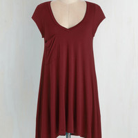 Long Short Sleeves A Crush on Casual Tunic in Merlot
