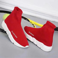 """Balenciaga"" Fashion Casual Knit Stretch Thick Bottom High Help Shoes Sock Shoes Couple Sneakers"