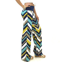 Laguna Sunset Chevron Striped Palazzo Pants