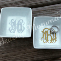 Petite Personalized Monogrammed Ring Dish Holder