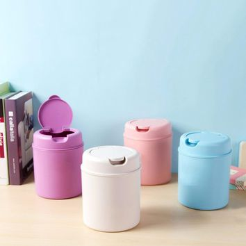 Multifunction Mini Desktop Garbage Basket Home Table Trash Can Dustbin Container Storage Box