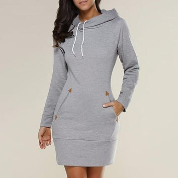 Cupid Hoodie Dress W/ Pockets