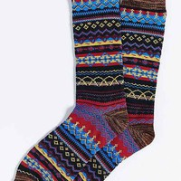 Lightweight Fair Isle Crew Sock