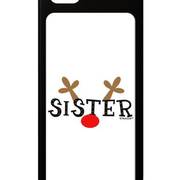 Matching Family Christmas Design - Reindeer - Sister iPhone 5 / 5S Grip Case  by TooLoud