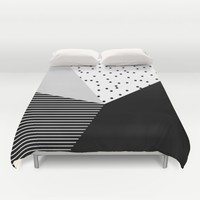 Geometry Blocks 10 Duvet Cover by Mareike Böhmer Graphics