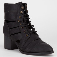 Qupid Toni Womens Boots Black  In Sizes