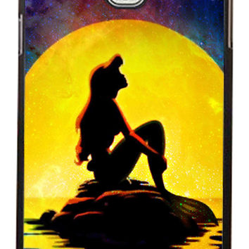 The Little Mermaid Disney Movie silhouette Samsung Galaxy Note 3 Cases - Hard Plastic, Rubber Case