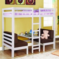 Twin Convertible Loft Bed:Amazon:Home & Kitchen