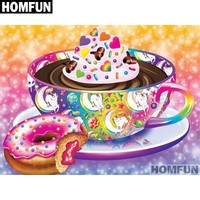 5D DIamond Painting Hot Chocolate and Jelly Filled Donuts Kit