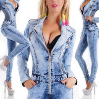 2015 hot selling summer style jumpsuit full length sexy deep v solid sky blue women rompers = 1958042820