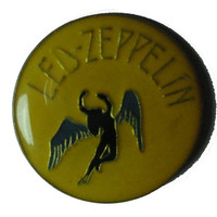 vintage LED ZEPPELIN metal enamel pin button pinback