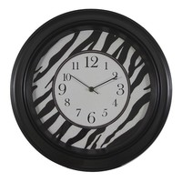 Decor Therapy Zebra Wall Clock (Black)