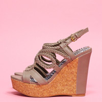 Laguna Beach Wedge - Taupe