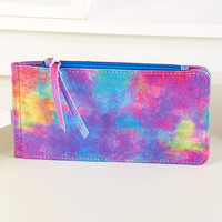 22 Compartment Credit Card Wallet.  Tie Dye.