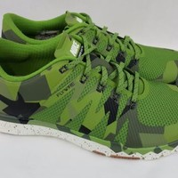 Nike Free Trainer 5.0 V6 AMP Green Camo Black Athletic Shoes 723939-303 Size 9
