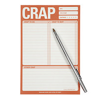 Crap List Notepad | Desk-organization | Accessories | Z Gallerie