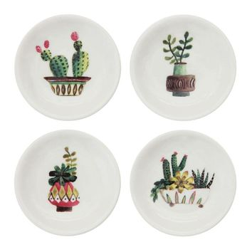 Round Cactus Trinket Dish By Creative Coop