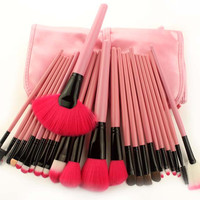Hot Sale Hot Deal Make-up Beauty On Sale 24-pcs Pink Makeup Brush Sets Make-up Brush [9647071183]