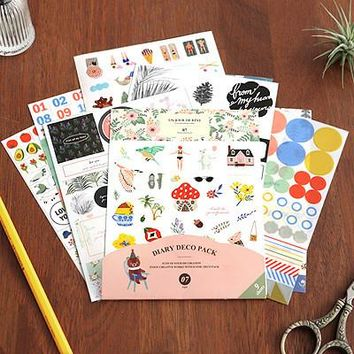 DIY Colorful iconic 3D kawaii Stickers Diary Planner Journal Note Diary Paper Scrapbooking Albums PhotoTag Funny
