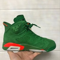 "NEW NIKE AIR JORDAN 6 RETRO VI ""GATORADE GREEN""   SNEAKERS"