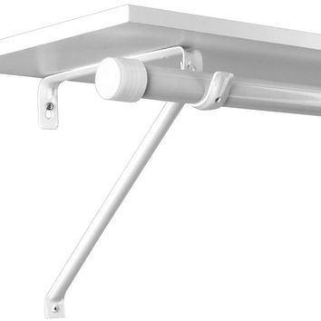 Knape & Vogt® Closet Pro™ Adjustable Rod & Shelf Bracket, White