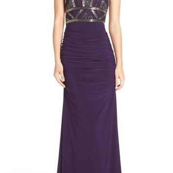 Adrianna Papell Sleeveless Beaded Bodice Dress | Nordstrom