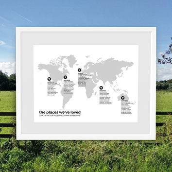 Wedding Seating Chart, World Map Seating Chart, Personalised Wedding Table Plan, Custom Wedding Signs, Places We've Been, Where We Met
