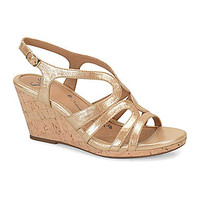 Sofft Corinth Wedge Sandals - Gold