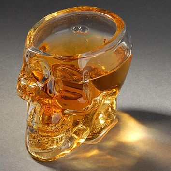 Glass Skull Mug Creative Crystal Skull Mug Home Parties Mini Crystal Glass Mug Cup For Red Wine Vodka Free Shipping #10-20