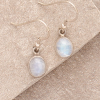 Mystic Moonstone Silver Power Earrings
