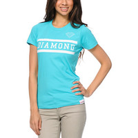 Diamond Supply Girls Collegiate Turquosie Tee Shirt