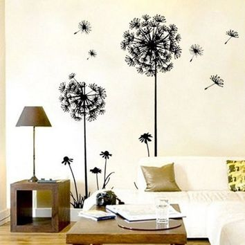 Lowest Price New Creative Dandelion Wall Art Decal Sticker Removable Mural PVC Home Decor Gift